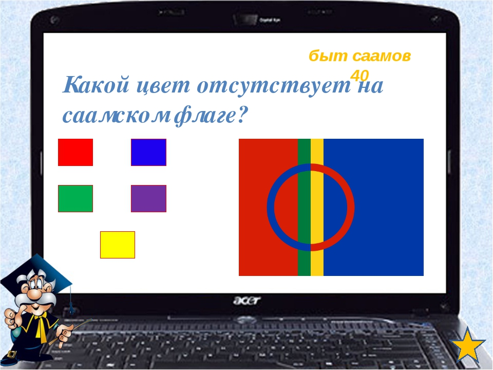 быт саамов 40 Какой цвет отсутствует на саамском флаге?