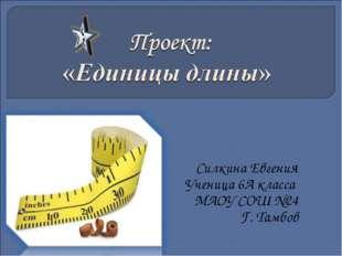 Силкина Евгения Ученица 6А класса МАОУ СОШ №24 Г. Тамбов
