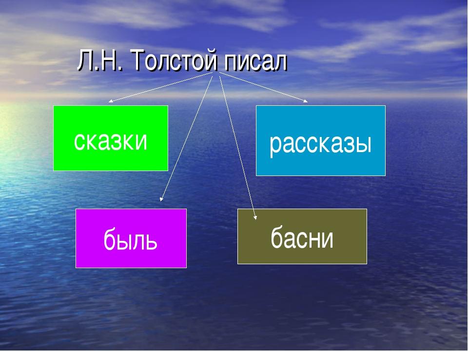 Л.Н. Толстой писал сказки басни быль рассказы