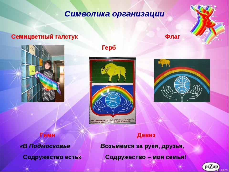Знакомимся с «радугой» Символика организации Семицветный галстук Флаг Герб Ги...