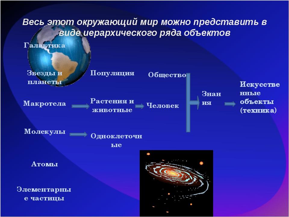 Весь этот окружающий мир можно представить в виде иерархического ряда объекто...