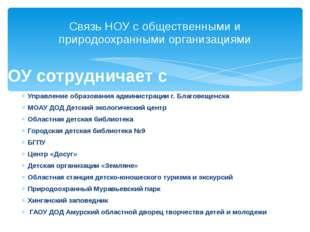 Управление образования администрации г. Благовещенска МОАУ ДОД Детский эколог