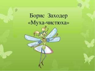 Борис Заходер «Муха-чистюха»