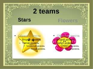2 teams Stars Flowers