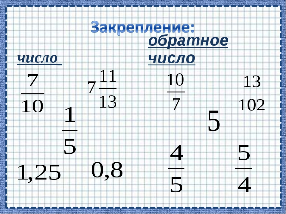 число обратное число