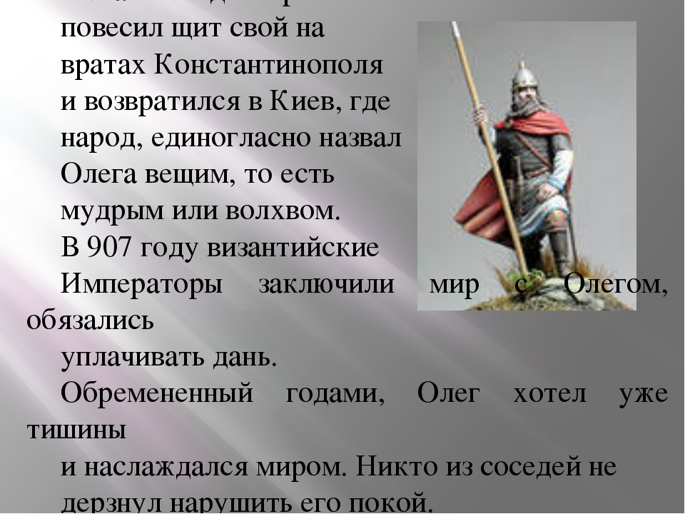 В знак победы Герой повесил щит свой на вратах Константинополя и возвратился...