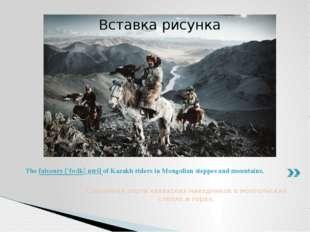 Соколиная охота казахских наездников в монгольских степях и горах. The falcon