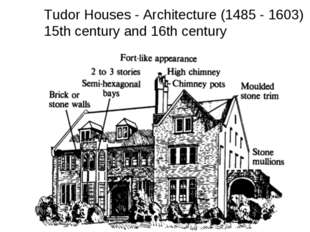 Tudor Houses - Architecture (1485 - 1603) 15th century and 16th century
