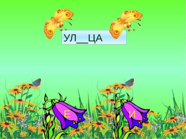 УЛ__ЦА И Е