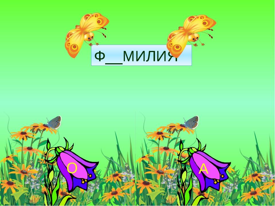 Ф__МИЛИЯ А О