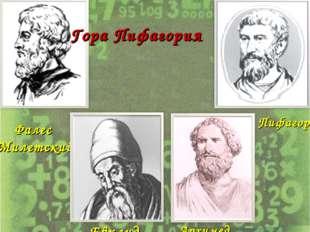 Фалес Милетский Пифагор Евклид Архимед Гора Пифагория