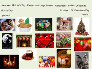 New Year Easter candles present St. Valentines Day Christmas Victory Day Hall