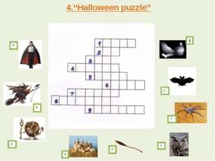 """4.""""Halloween puzzle"""" 2 3 4 5 7  1 9 6 8"""