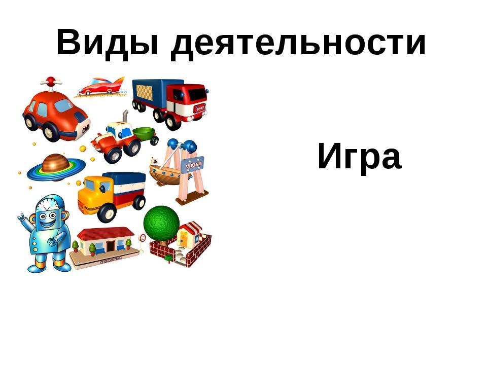 Виды деятельности Игра