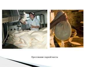 Прессование сырной массы