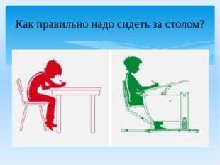 Как правильно надо сидеть за столом?