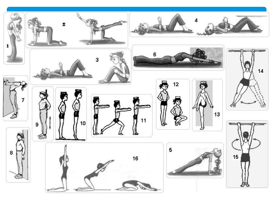 Омплекс упражнений для осанки с картинками реферат
