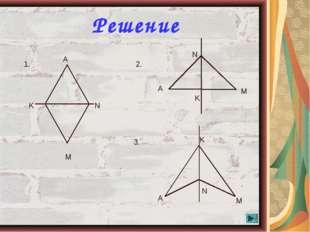 * Решение K N M A 1. 2. N K A M 3. K N A M