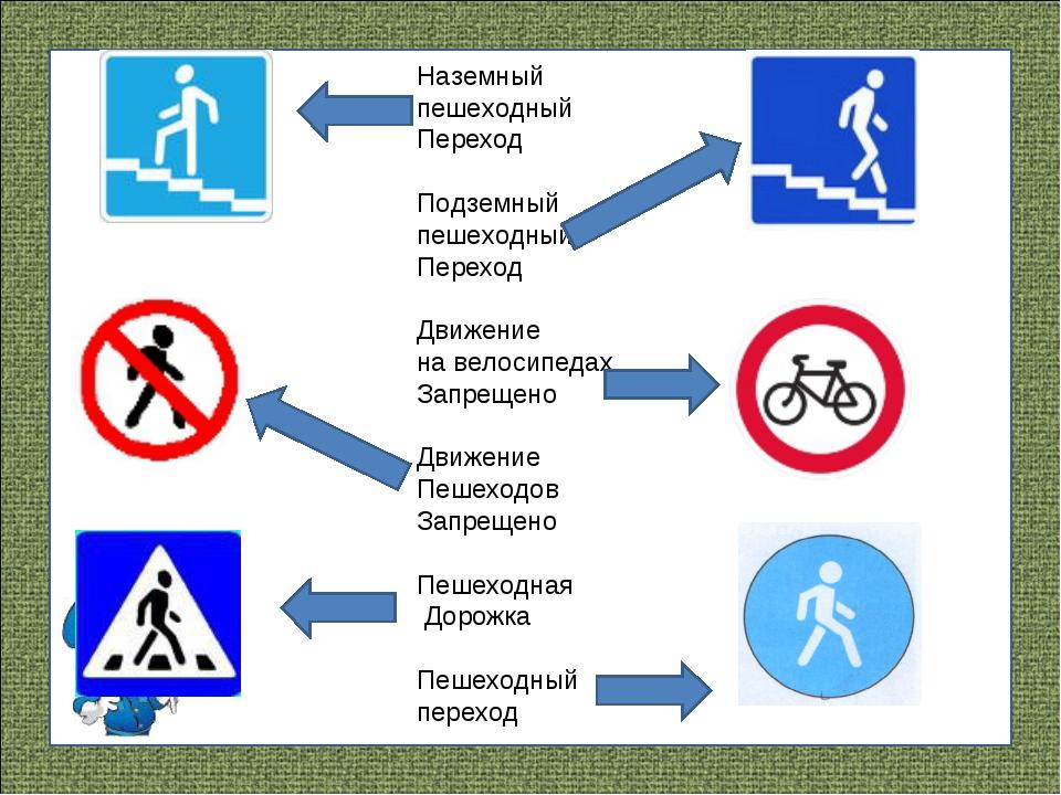 Наземный пешеходный Переход Подземный пешеходный Переход Движение на велосипе...