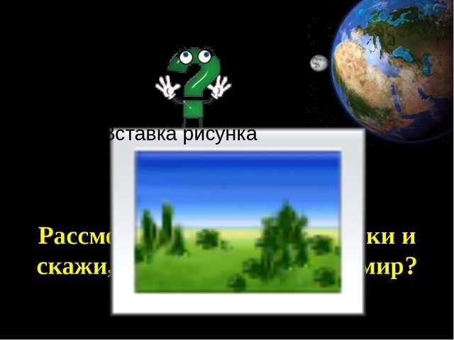 Рассмотри следующие рисунки и скажи, как человек познает мир?