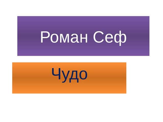 Роман Сеф Чудо