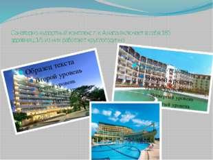 Санаторно-курортный комплекс г-к Анапа включает в себя 185 здравниц,1/5 из ни