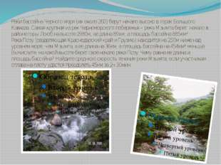 Реки бассейна Черного моря (их около 260) берут начало высоко в горах Большог