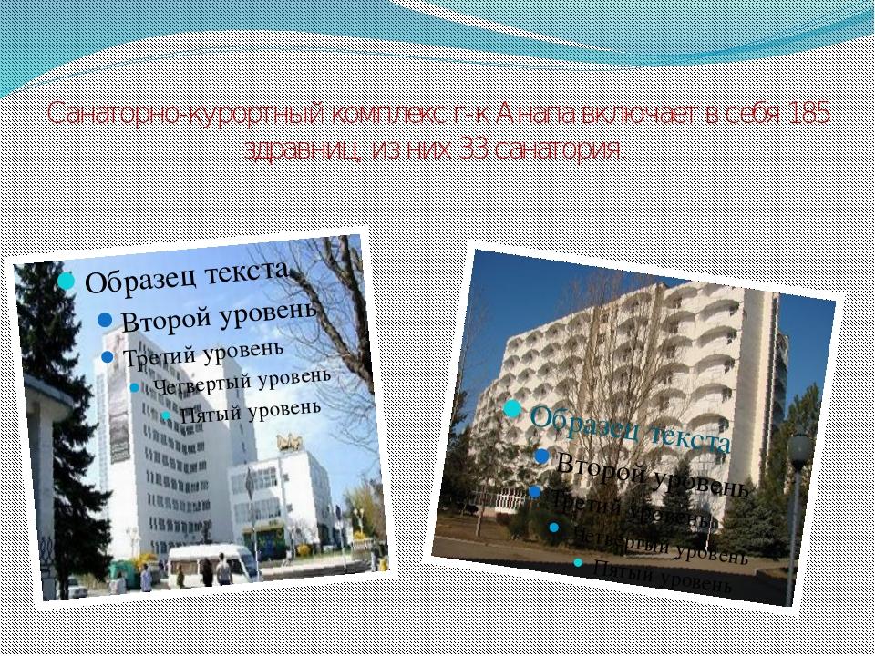 Санаторно-курортный комплекс г-к Анапа включает в себя 185 здравниц, из них 3...