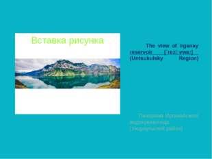 The view of Irganay reservoir [`rezәvwa:] (Untsukulsky Region) Панорама Ирга