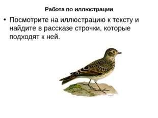 Работа по иллюстрации Посмотрите на иллюстрацию к тексту и найдите в рассказе