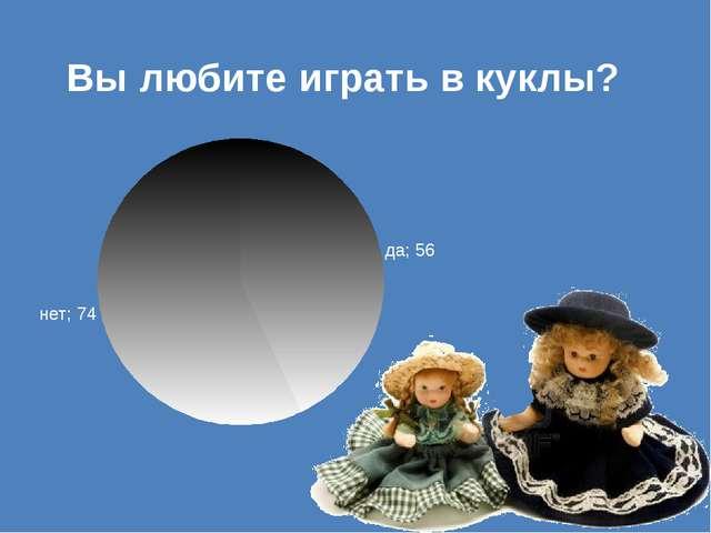 Вы любите играть в куклы?
