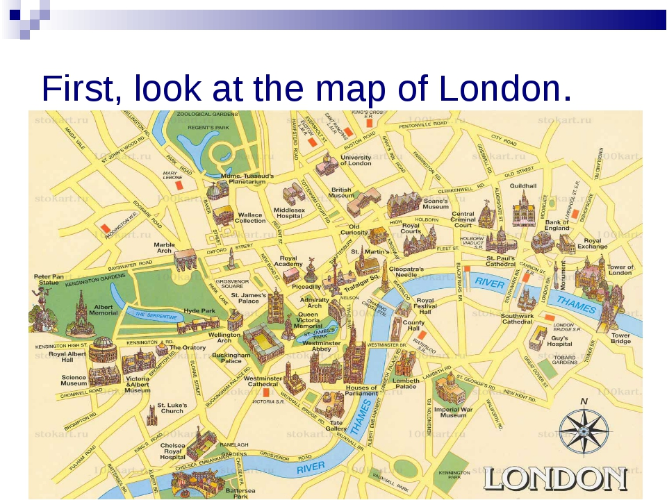 First, look at the map of London.