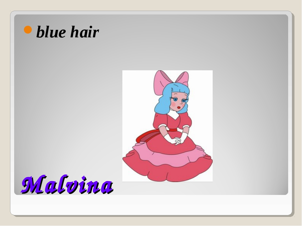 Malvina blue hair