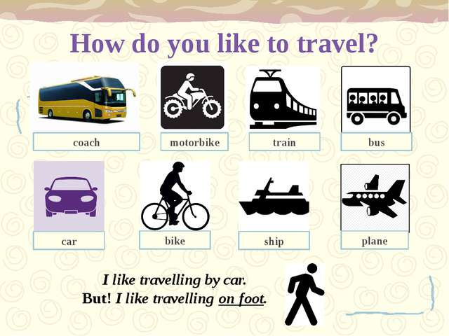 How do you like to travel? I like travelling by car. But! I like travelling o...