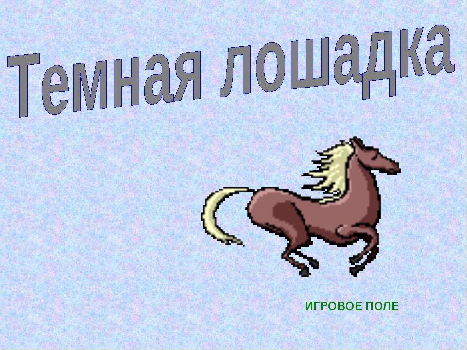 ИГРОВОЕ ПОЛЕ
