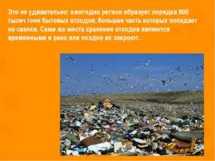 Это не удивительно: ежегодно регион образует порядка 800 тысяч тонн бытовых о