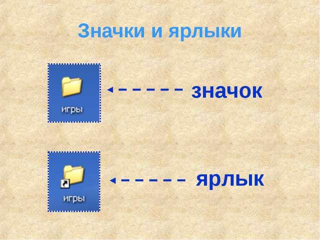 Значки и ярлыки значок ярлык