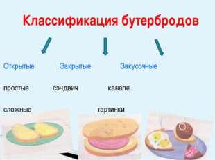 Открытые Закрытые Закусочные простыесэндвич канапе сложные   тарти