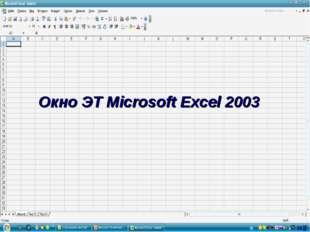 Окно ЭТ Microsoft Excel 2003