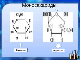 Глюкоза Фруктоза Моносахариды