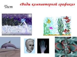 Тест «Виды компьютерной графики»