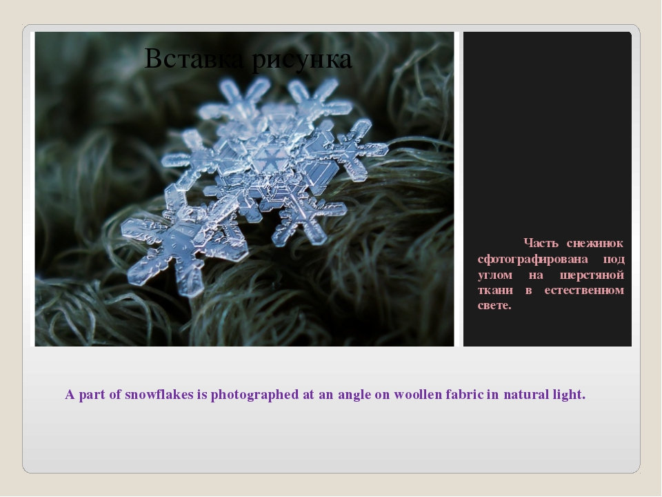 A part of snowflakes is photographed at an angle on woollen fabric in natura...