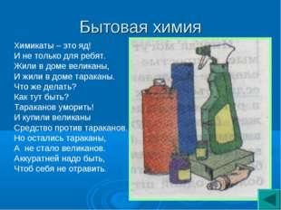 Бытовая химия Химикаты – это яд! И не только для ребят. Жили в доме великаны,