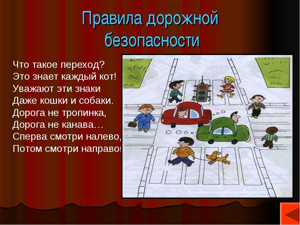 Правила дорожной безопасности Что такое переход? Это знает каждый кот! Уважаю...