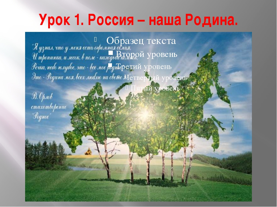 Урок 1. Россия – наша Родина.