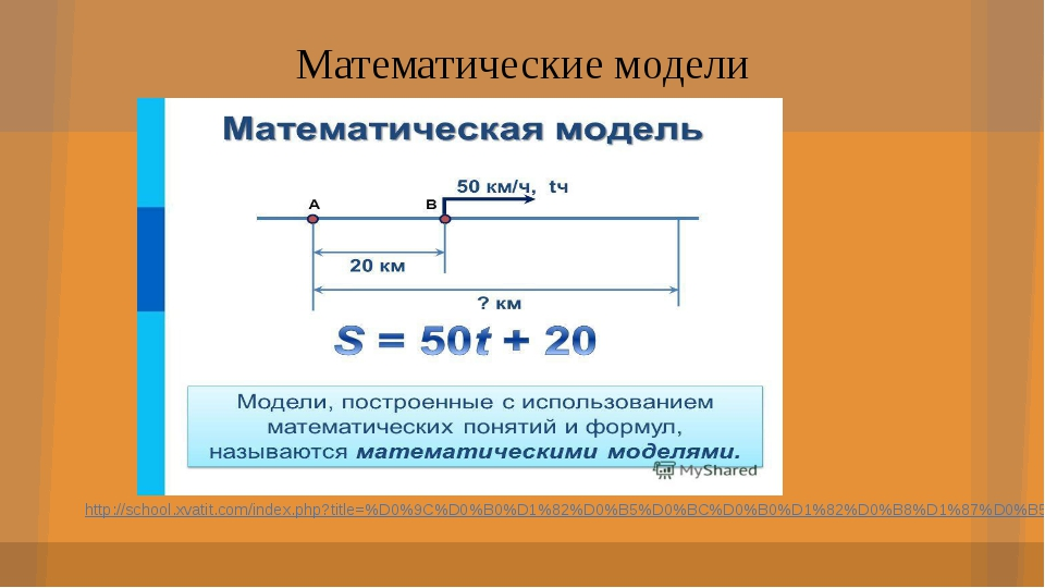 Математические модели http://school.xvatit.com/index.php?title=%D0%9C%D0%B0%D...
