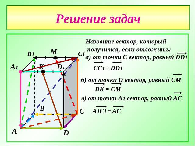 Решение задач А В С D А1 В1 С1 D1 М К