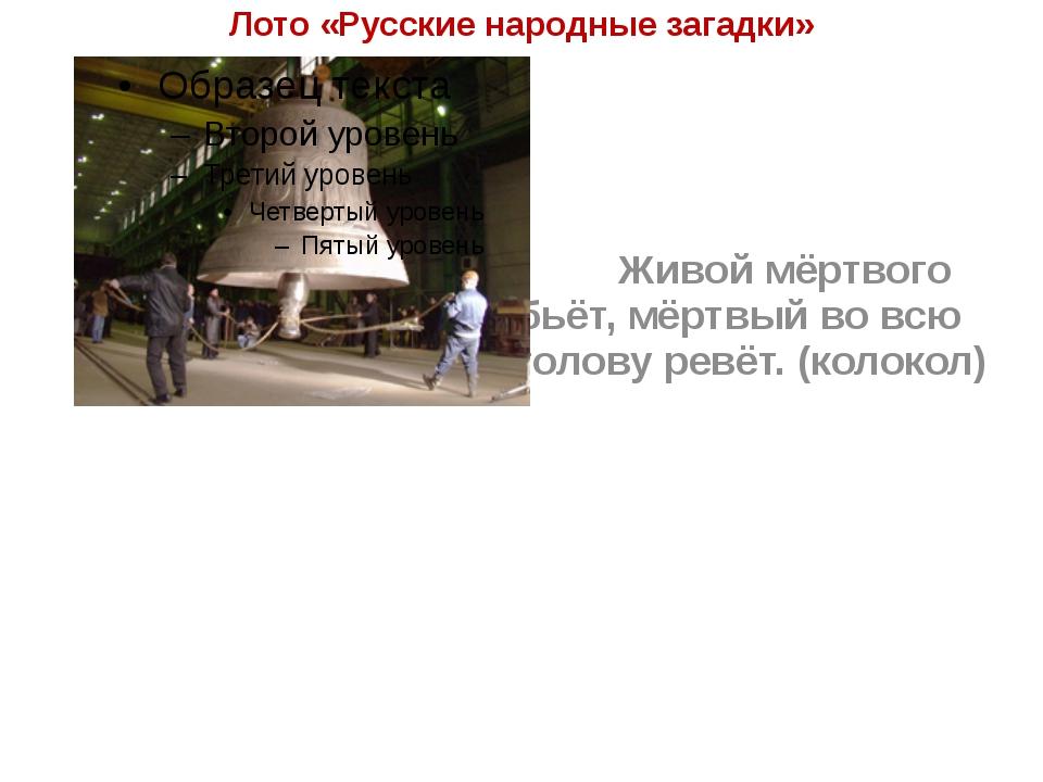 Лото «Русские народные загадки» Живой мёртвого бьёт, мёртвый во всю голову...