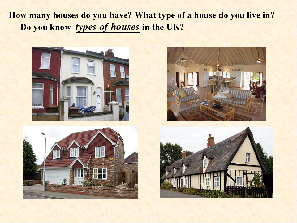How many houses do you have? What type of a house do you live in? Do you know...