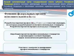 Высший исполнительный орган государственной власти субъекта Российской Федера